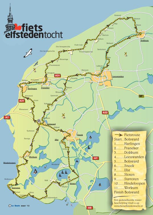 Route fietselfsteden