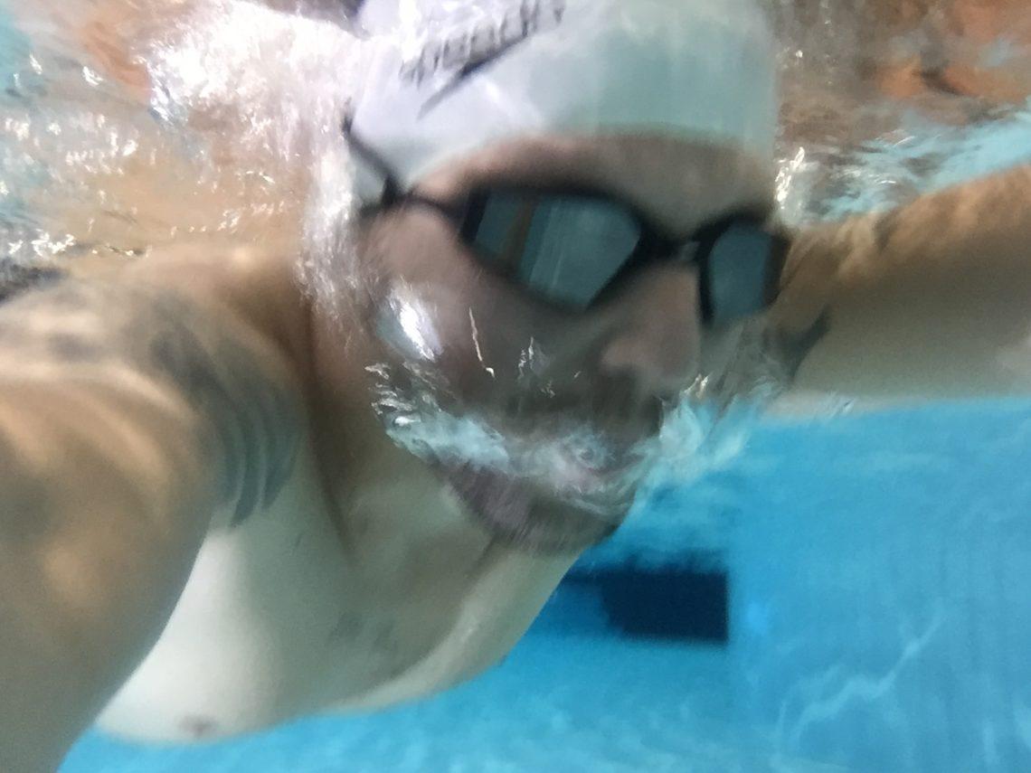 De laatste meters onder water...